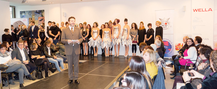 Grüße vom cat Jahresabschluss 2015 mit Edgar Krug, Wella Studio Team, cat NationalTeam, cat AktivTeam im Wella World Studio in Frankfurt am Main